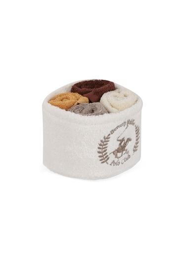 Beverly Hills Polo Club Polo El Kurulama Havlu Seti 30x30cm (4) Alinda - White v03 Beyaz  Vizon  Bal  Kahve Kahve